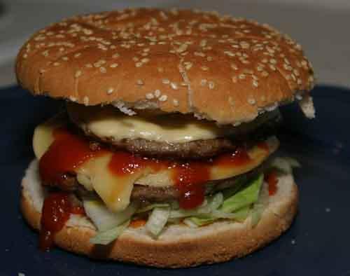hemmagjord ostburgare homemade hamburger